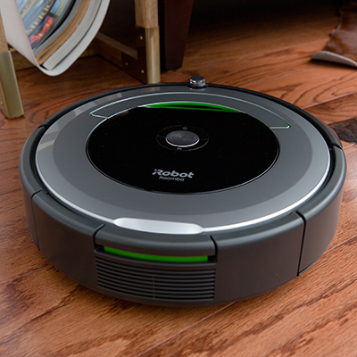 ROOMBA<sup>&reg;</sup> iRobot<sup>&reg;</sup> Vacuum Cleaning Robot - Patented 3-Stage Cleaning System removes dirt, dust and other debris from your floors using this vacuum robot.  Dirt Detect sensors alert the Roomba to clean more thoroughly when encountering concentrated areas of dirt. Use the iRobot HOME app to clean and schedule your robot vacuum at any time.